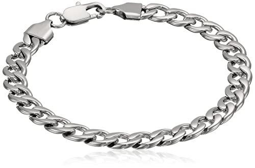 Amazon.com: Hombre Acero Inoxidable Curb Pulsera: Jewelry
