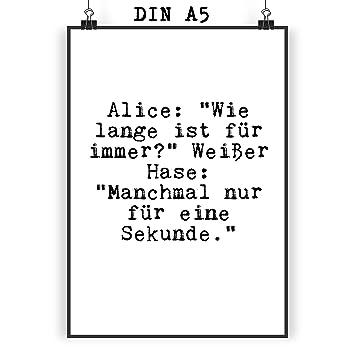 Amazon De Mr Mrs Panda Poster Din A5 Mit Spruch Alice Wie