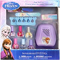 TownleyGirl Disney's Frozen Super Fun Nail Set with 6 Nail Polishes, Dryer, Buffer and more, 12 piece set