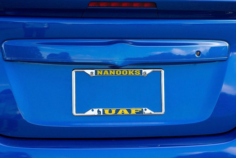 Desert Cactus University of Alaska Fairbanks UAF Nanooks NCAA Metal License Plate Frame for Front Back of Car Officially Licensed Mascot