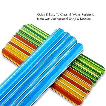 Amazon.com : Nail Files Design Emery Boards Bulk 12 Pack 180 240 ...