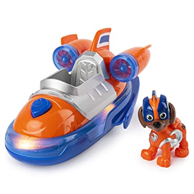 Paw Patrol, Mighty Pups Super Paws Zuma's Deluxe Vehicle with Lights & Sounds, Multicolor: Toys & Games