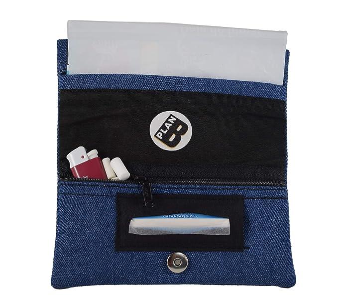 Plan B Funda Tabaco de Liar Yolo Tejana 17 x 8,5 cm 50 gr, Bolsa Interior de Goma EVA, Azul Hecha en España