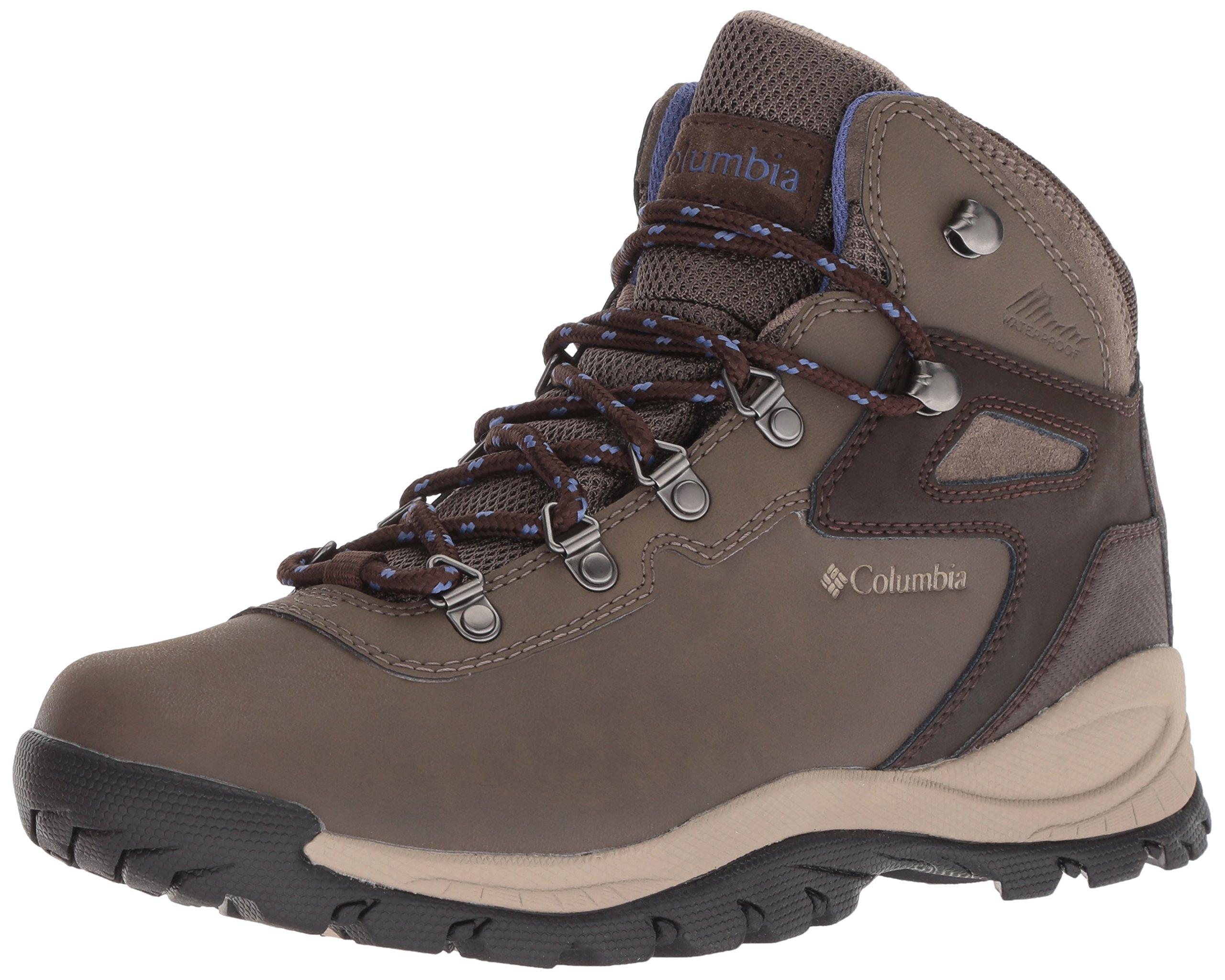 Columbia Women's Newton Ridge Plus Hiking Shoe, Mud, Eve, 9 Wide US