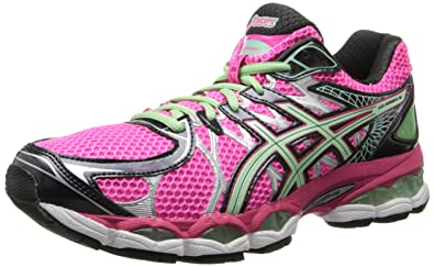 ASICS Women's Gel-Nimbus 16 Running Shoe,Hot Pink/Green/Black,
