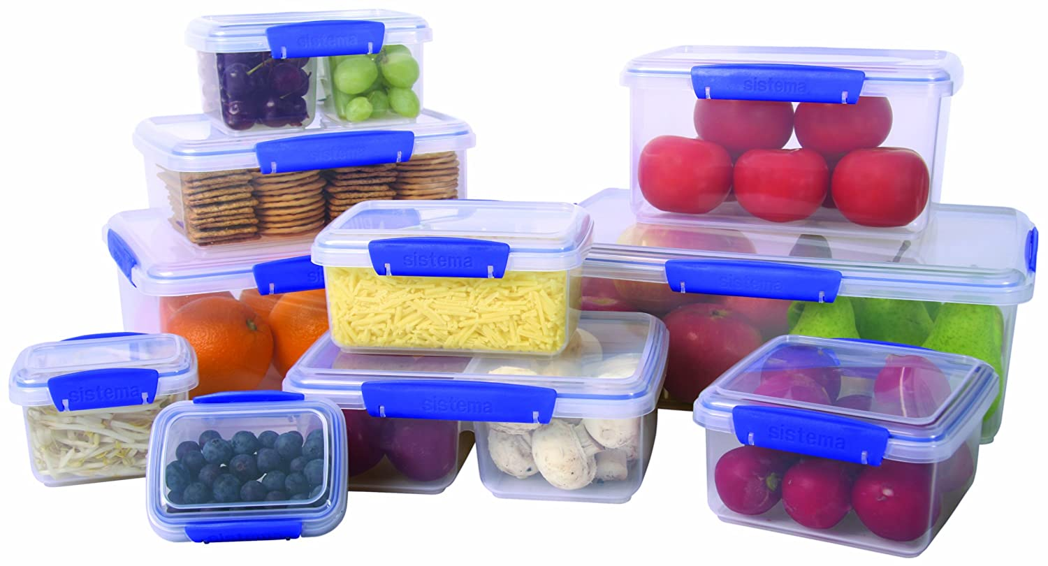 Amazon.com Sistema Klip It Collection Lunch Plus Food Storage Containers 40 Ounce/5 Cup each Set of 3 Kitchen Storage And Organization Product Sets ...  sc 1 st  Amazon.com & Amazon.com: Sistema Klip It Collection Lunch Plus Food Storage ...