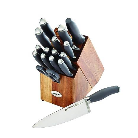 Amazon.com: Anolon SureGrip - Juego de 17 cuchillos ...