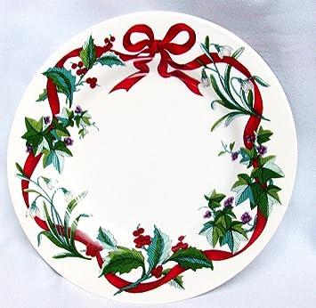 martha stewart dinner salad plate holiday garden christmas 9 14 ribbon - Christmas Salads Martha Stewart