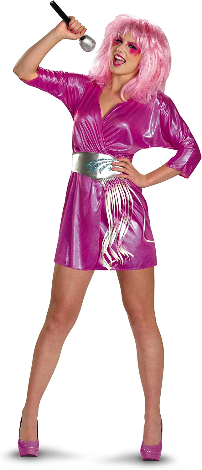 Jem And The Holograms Jem Deluxe Women S Costume Amazon Co Uk Toys Games
