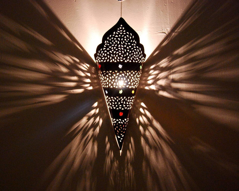 Etnico Arredo Applique da Muro Lampada Lanterna in Ferro battuto Marocco Stile Arabo MOROCCHINA Etnica 0807191226