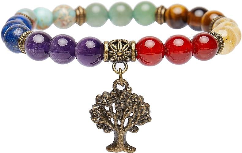 Healing Stone Bracelet * Elastic Bracelet *Yoga Jewelry *Gemstone Bracelet Bracelet Rock Crystal Rock Crystal Bronze Buddha Pearl