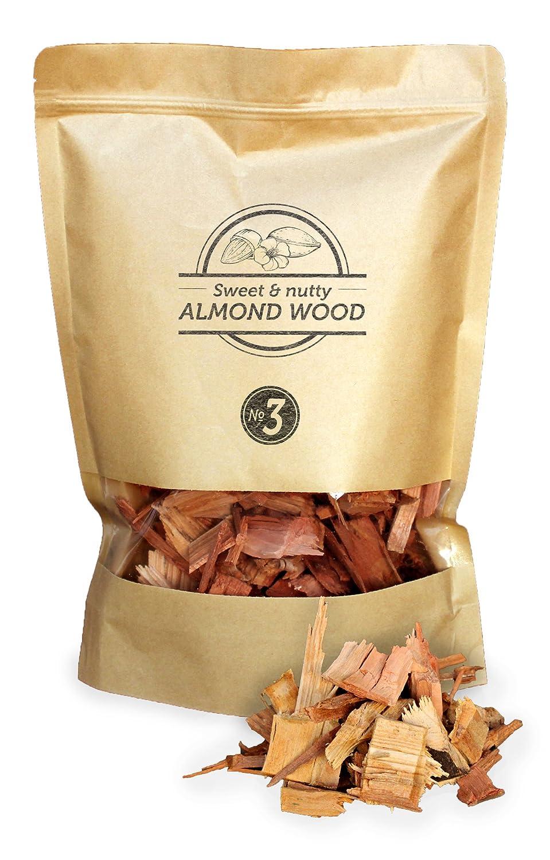 Smokey Olive Wood 1,7 Litre de copeaux de Bois d'amandier pour Fumer, Taille des copeaux 2cm - 3cm SOW-106