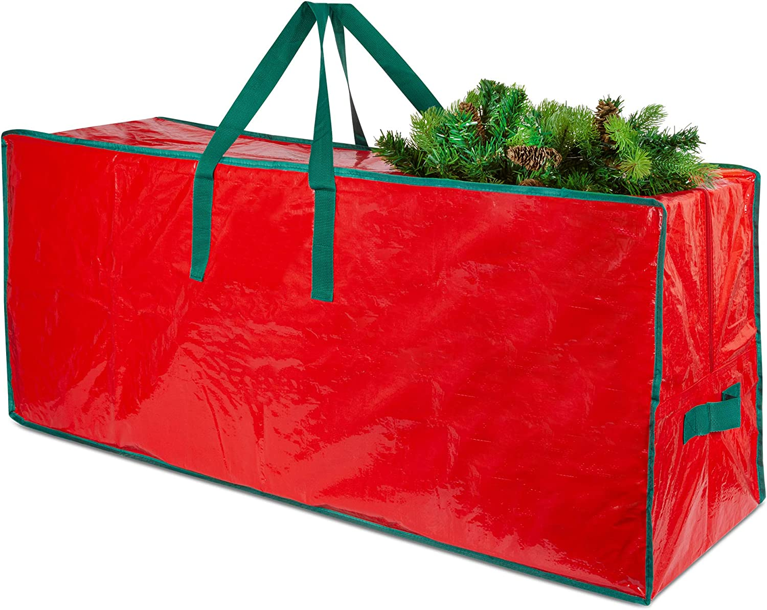 DSL Christmas Tree Storage Bag with Handles – Easy to Store Christmas Tree Bag, Fits Up to 6ft Tall Trees - Wipe Clean Surface Large Bag for Xmas Tree and Decorations – Strong Durable with Full Zipper