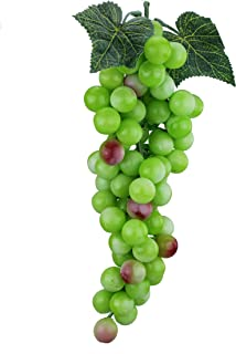 Venkaite 2pc Deko Kunststoff Weintrauben Wein Trauben Kunstobst Plastikobst k/ünstliches Obst Gem/üse Dekoration Rote