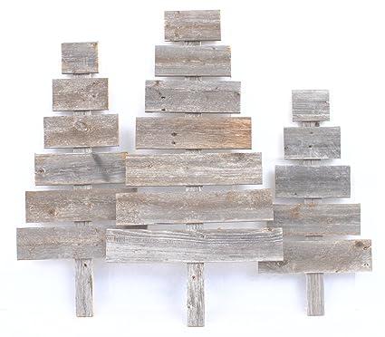 barnwoodusa rustic wood christmas tree set of 3 100 reclaimed wood - Rustic Wood Christmas Tree