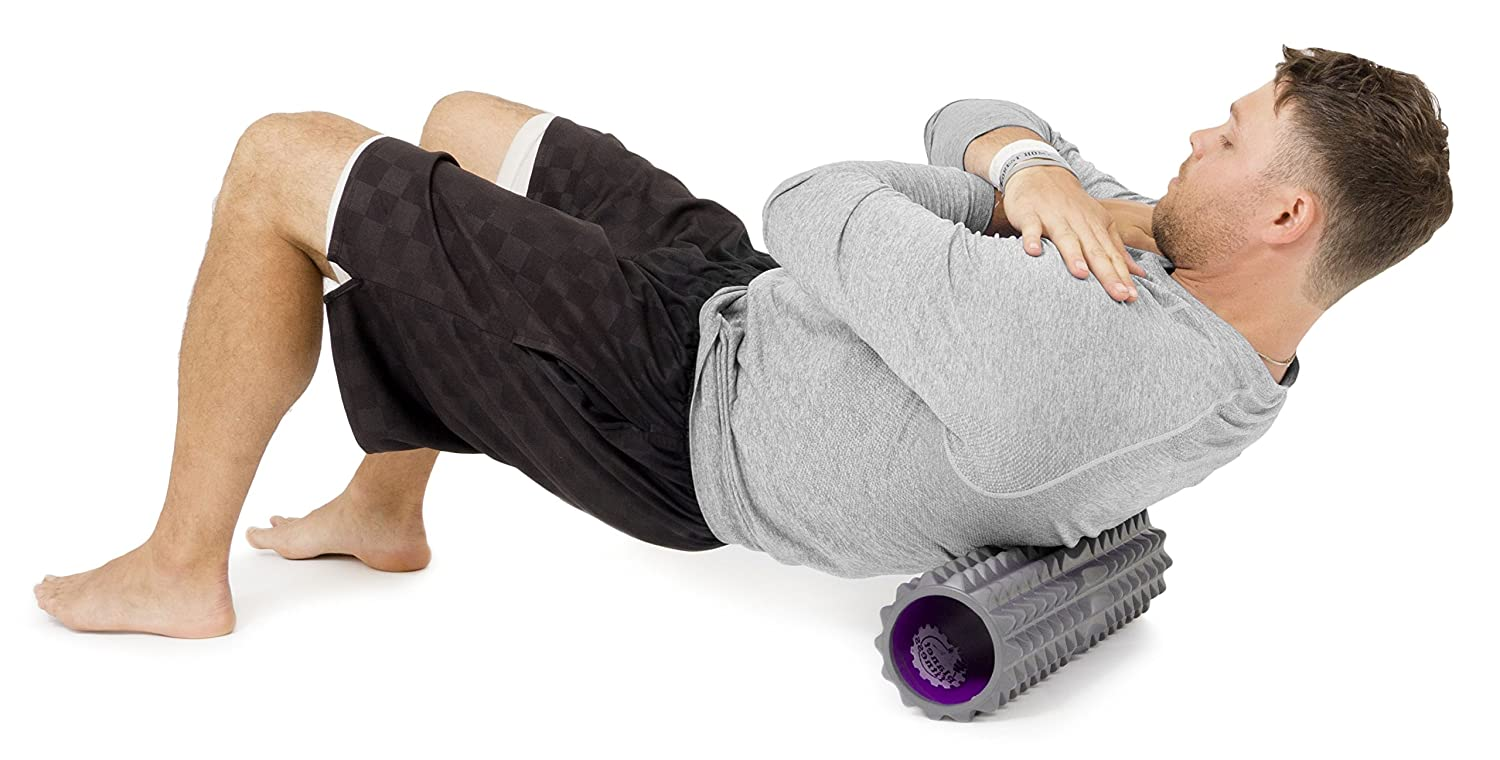 Planet Fitness Deep Tissue EVA Foam Roller with Spine Support Space ...