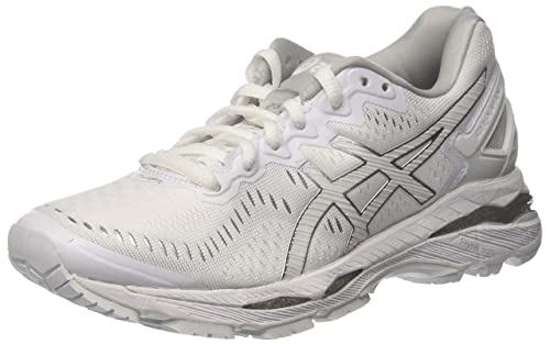 Asics Damen Gel Kayano 23 Traillaufschuhe, White / Snow / Silver