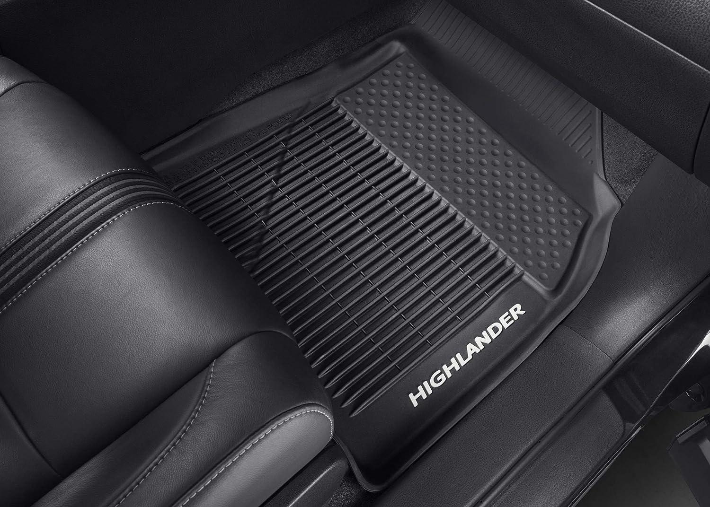 2016-2017 Highlander /& Highlander Hybrid. Genuine Toyota All-Weather Floor Liner Set PT908-48165-02 Black 3 Piece Set