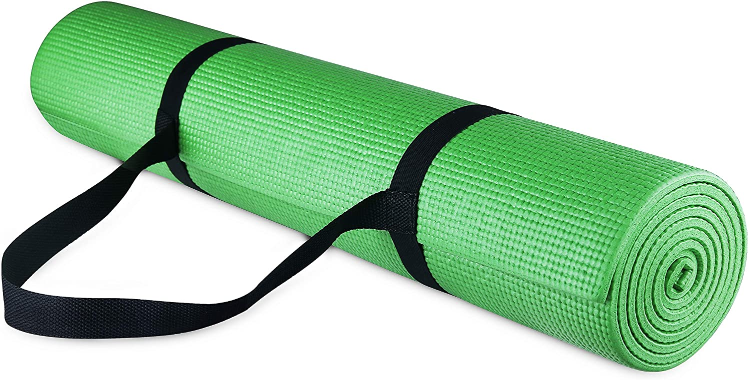 BalanceFrom GoYoga All-Purpose 1/4-Inch High Density Anti-Tear Exercise Yoga Mat with Carrying Strap