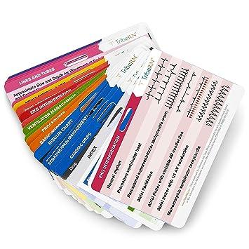 BadgeGuru Set By Tribe RN 26 Nursing Badge Reference Cards EKG Vitals Lab Values Etc Bonus Nursing Cheat Sheets Perfect Gift For A Nurse