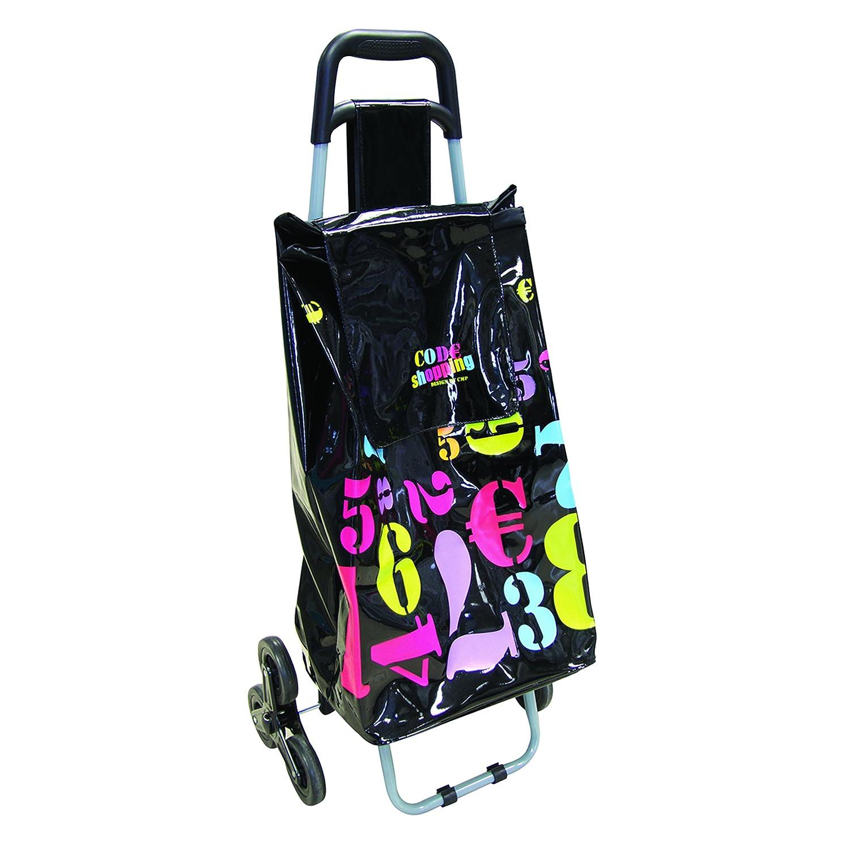 Totally Addict SH1483 Chariot Shopping 50L 6 Roues Couleur assortie Plastique