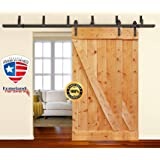Amazon Com 8 Foot Heavy Duty Sliding Barn Door Hardware