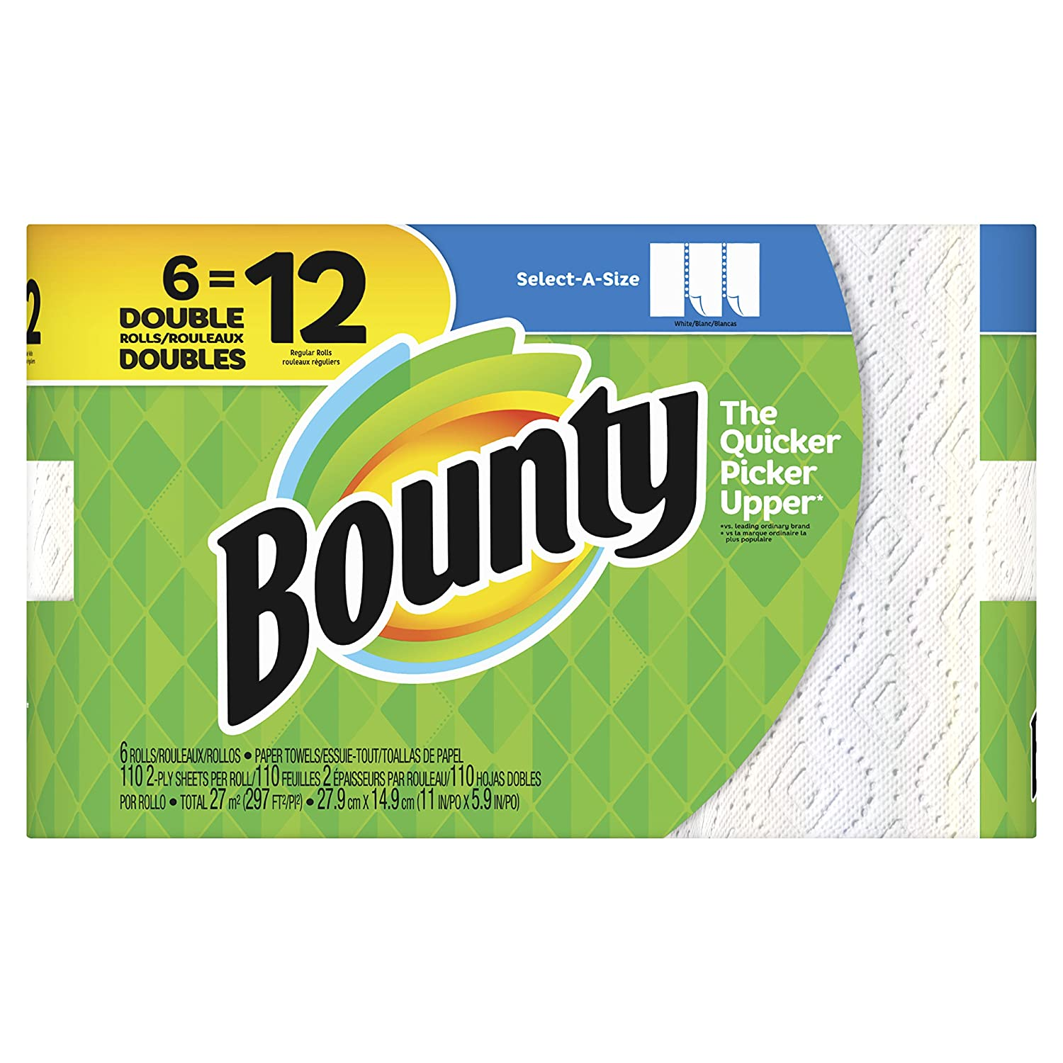 Amazon.com: Bounty Select-a-Size Paper Towels - 6 Double Rolls: Home Improvement