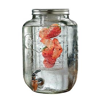 The Yorkshire Collection - Dispensador de bebidas de agua con infusor, tamaño grande, cristal: Amazon.es: Hogar