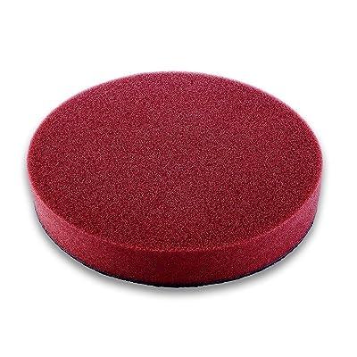 PULITO STATO 6'' Polishing Pad,Polishing Sponge,Foam Waxing Pad,Foam Polishing Disc,Waxing Buffing Pad for Car Buffer Polisher Sanding,Red,Round,6 inch,1 Pack: Health & Personal Care
