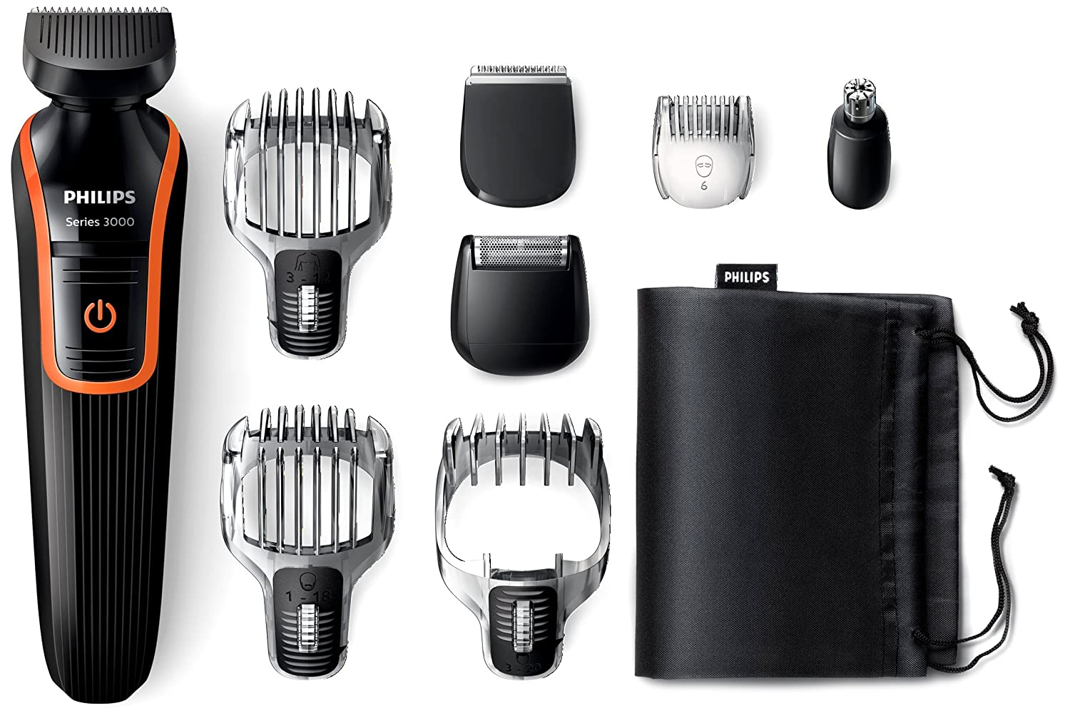 philips qg3352 23 waterproof hair beard trimmer shaver multi grooming kit set ebay. Black Bedroom Furniture Sets. Home Design Ideas