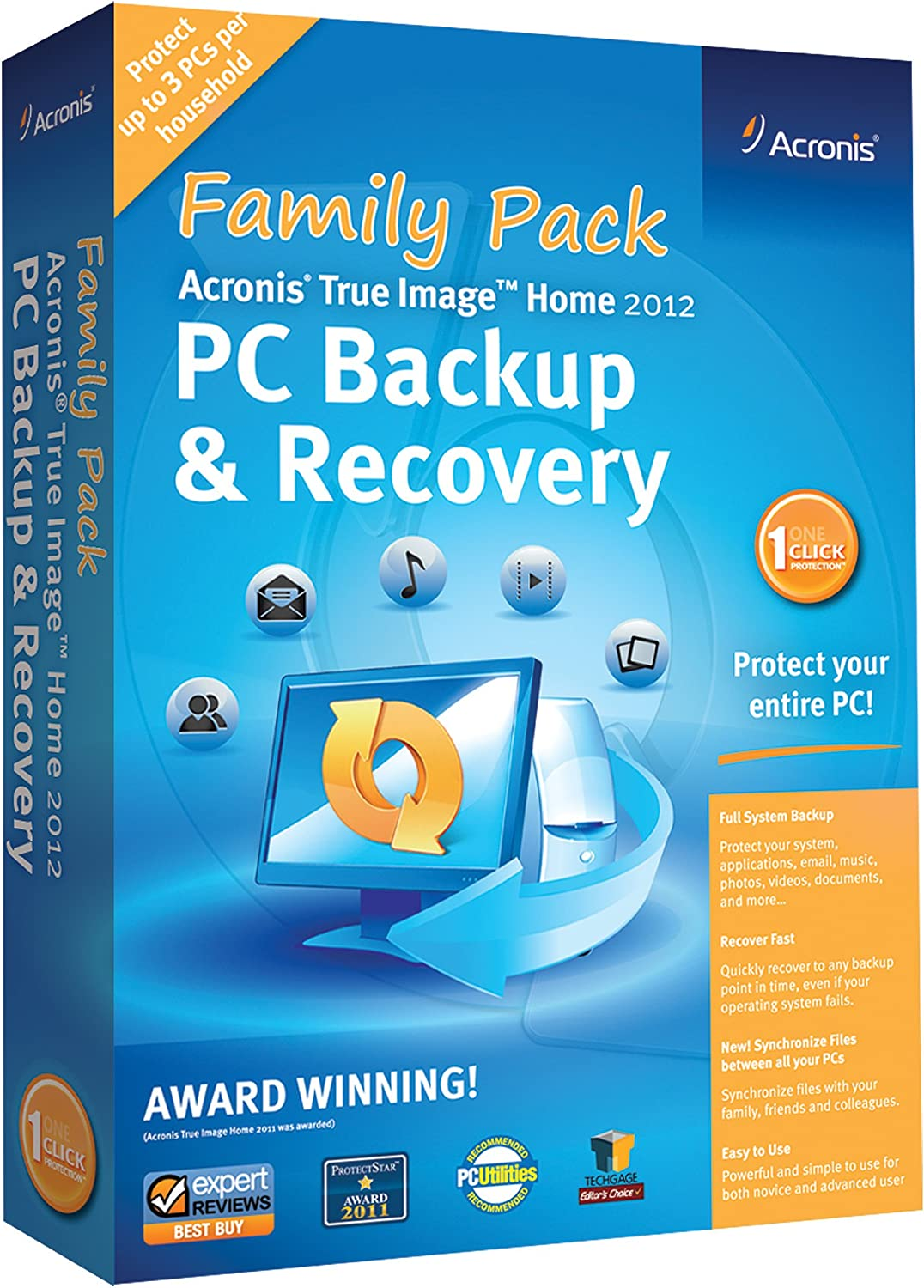 Acronis True Image Home 2012 Family Pack(3-Users) [Old Version]