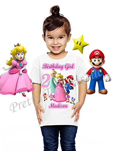 9288a247 Princess Peach Birthday Shirt, ADD any name & age, FAMILY Matching Shirts,  Princess Peach Shirt, Princess Birthday Shirt, Girl Mario Birthday Shirt,  ...