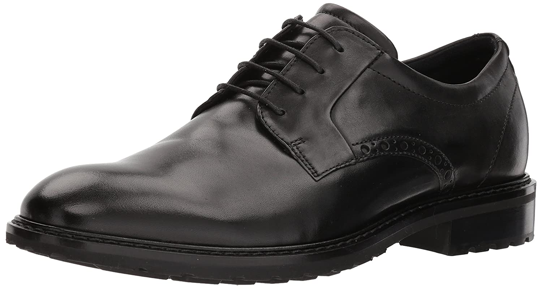 Black Plain Toe ECCO Men's Vitrus I Tie Oxford