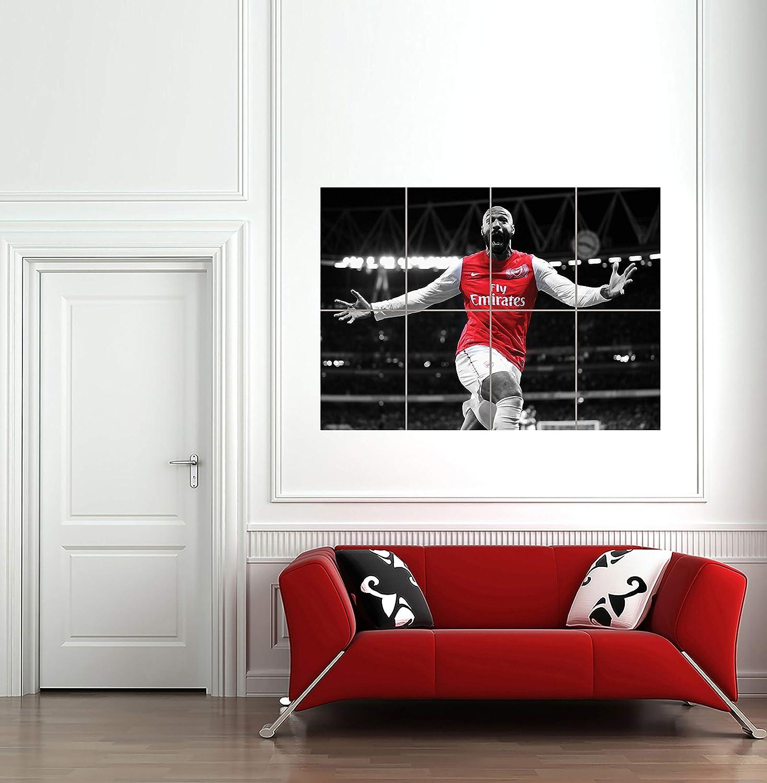 THIERRY HENRI ARSENAL FOOTBALL STAR GIANT POSTER ART PRINT MR275 Doppelganger33 LTD