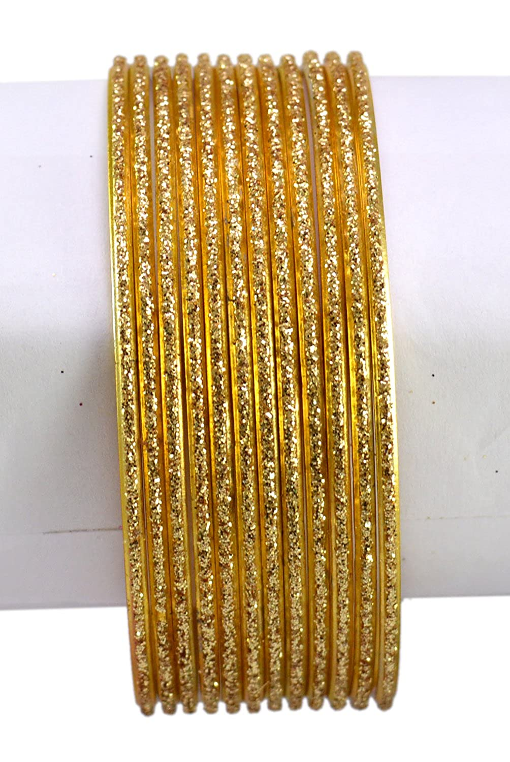 Chudi Jewelry Golden Color Indian Bollywood Fashion Casual Wear Metal Bangles
