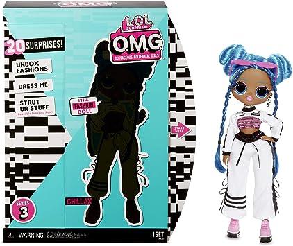 Amazon.es: L.O.L. Surprise! Muñecas de Moda Coleccionables para Niñas - con 20 Sorpresas y Accesorios - Chillax - O.M.G. Serie 3: Juguetes y juegos