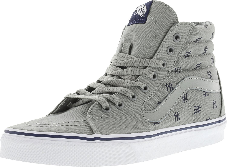 Vans Unisex Sk8-Hi Slim Women's Skate Shoe B072L1HJ28 11 M US Women / 9.5 M US Men|New York Yankees / Gray