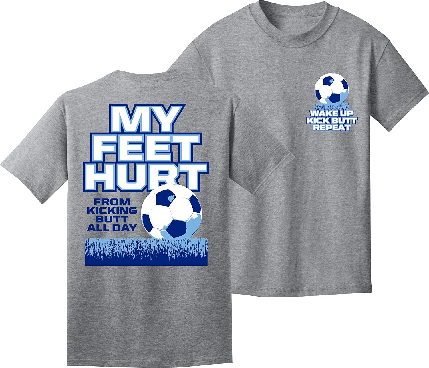 Soccer Tシャツ: My Feet hurt-soccer B00V73DBB4 Youth Small|スポーツグレー スポーツグレー Youth Small