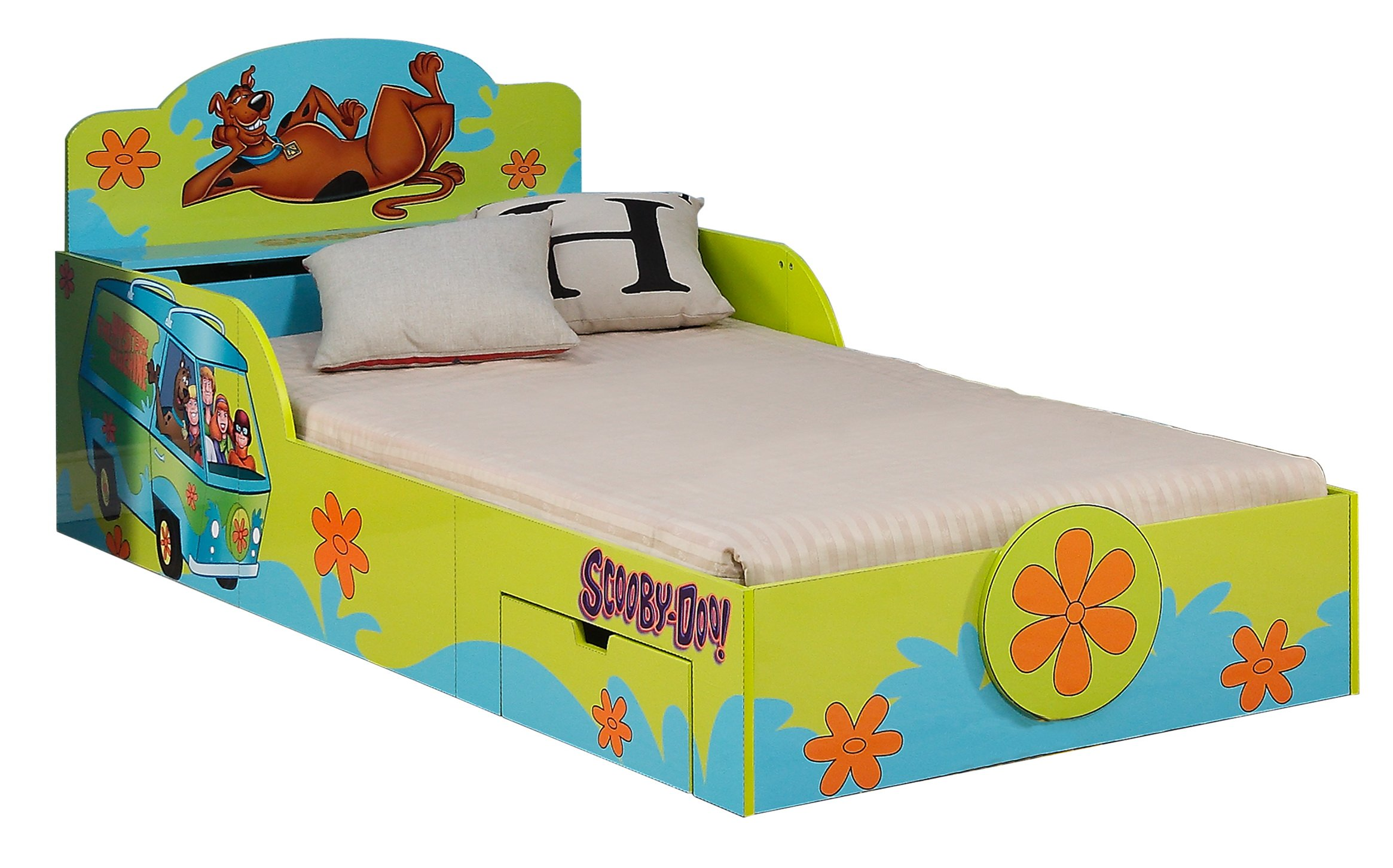 O'Kids Scooby Doo Platform Bed with Drawers and Toy Box by O'KIDS,INC.