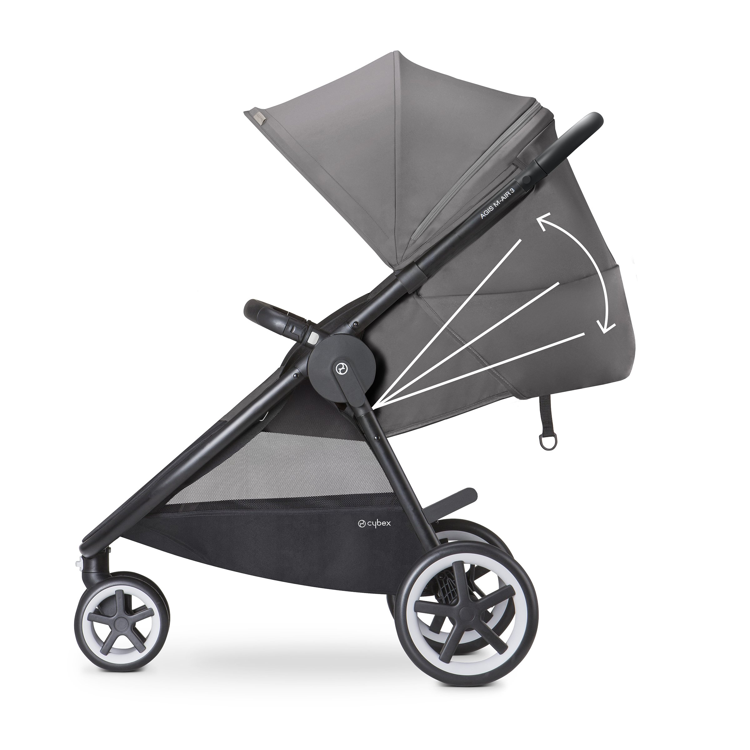 Cybex Agis M-Air 3/Aton/Aton Base Travel System, Moon Dust by Cybex (Image #4)
