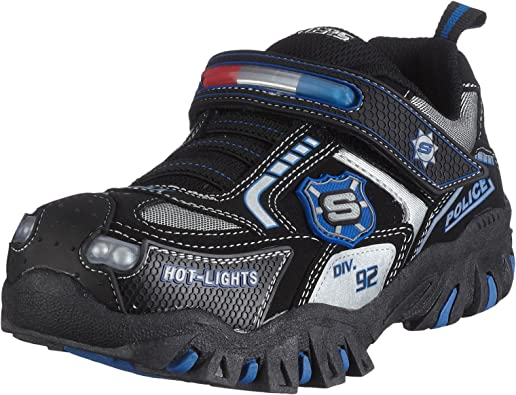 Sierra bibliotecario irregular  Amazon.com | Skechers Little Kid Damager-Police Light-Up Sneaker | Sneakers