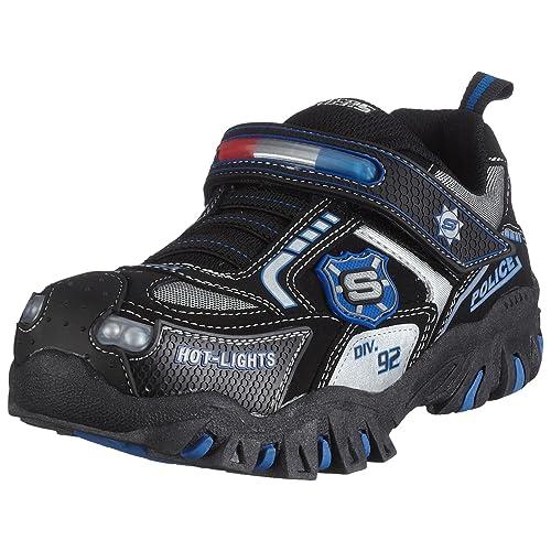 Skechers 90351L BKSL Damager Police, Jungen Sneaker