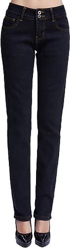 Camii Mia Pantalones Vaqueros Térmicos con Forro Polar de Invierno para Mujer