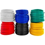 GS Power 100% Copper 14 AWG (American Wire Gauge) Automotive Primary Wire 6 Roll Color Combo (50 Feet Roll, 300 FT total) for