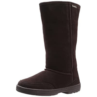 "BEARPAW Womens Meadow 10"" INCH Sheepskin Boots Chocolate Size 12 