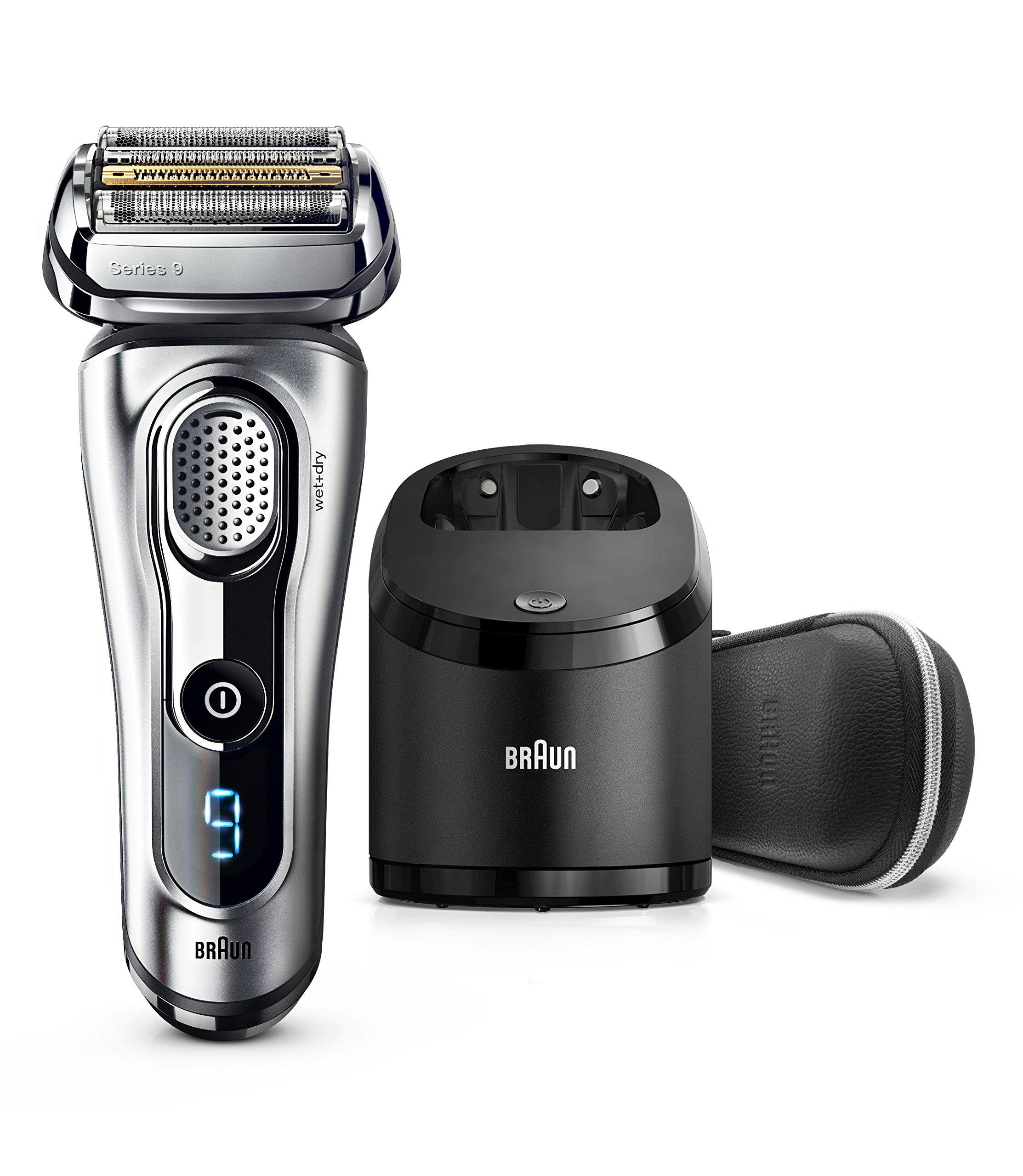 braun series 9 9290cc electric razor for men - 81CmsUO2IzL - Braun Electric Razor for Men, Series 9 9290cc Electric Shaver With Precision Trimmer, Rechargeable, Wet & Dry Foil Shaver, Clean & Charge Station & Travel Case