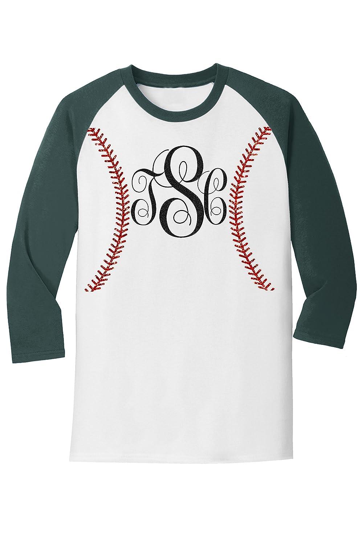 914dec94 Amazon.com: Customized Monogram Baseball T-Shirt: Clothing