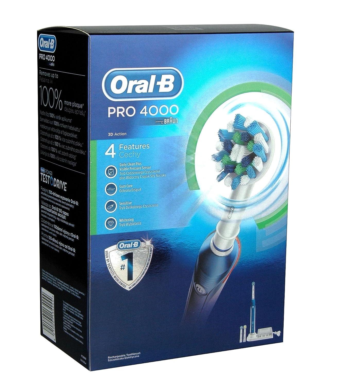 ORAL-B 4210201134244 Pro 4000 - Cepillo de dientes eléctrico: Amazon.es: Salud y cuidado personal