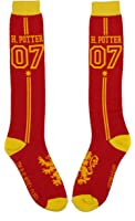 Harry Potter Quidditch Uniform Knee High Socks,Multi Colored,Adult
