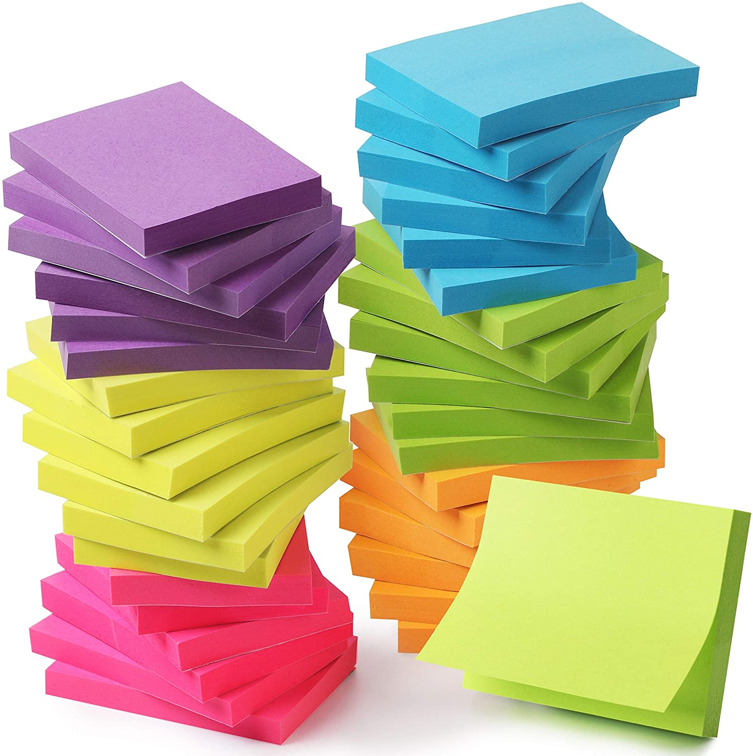 24 Pads 2x1.5 inch Each pad 60 Sheets Pen Sticky Note pad Mr